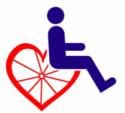 Wheelchair logo with heart
