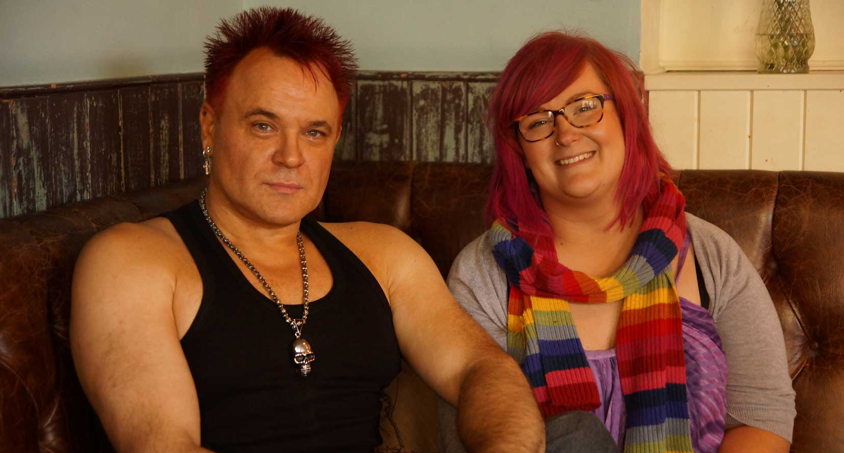 Picture of Mik Scarlet and Emily Yates of The Love Lounge