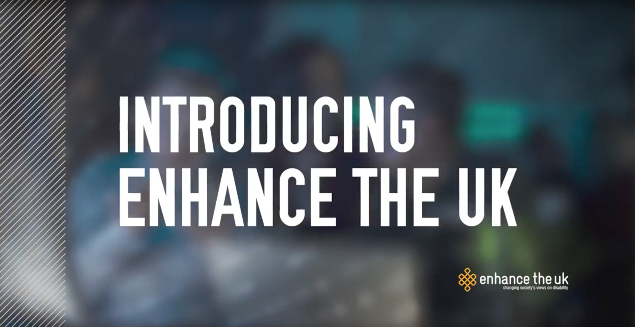 Text reading 'introducing Enhance The UK' from a bespoke training video made for badenoch and clark