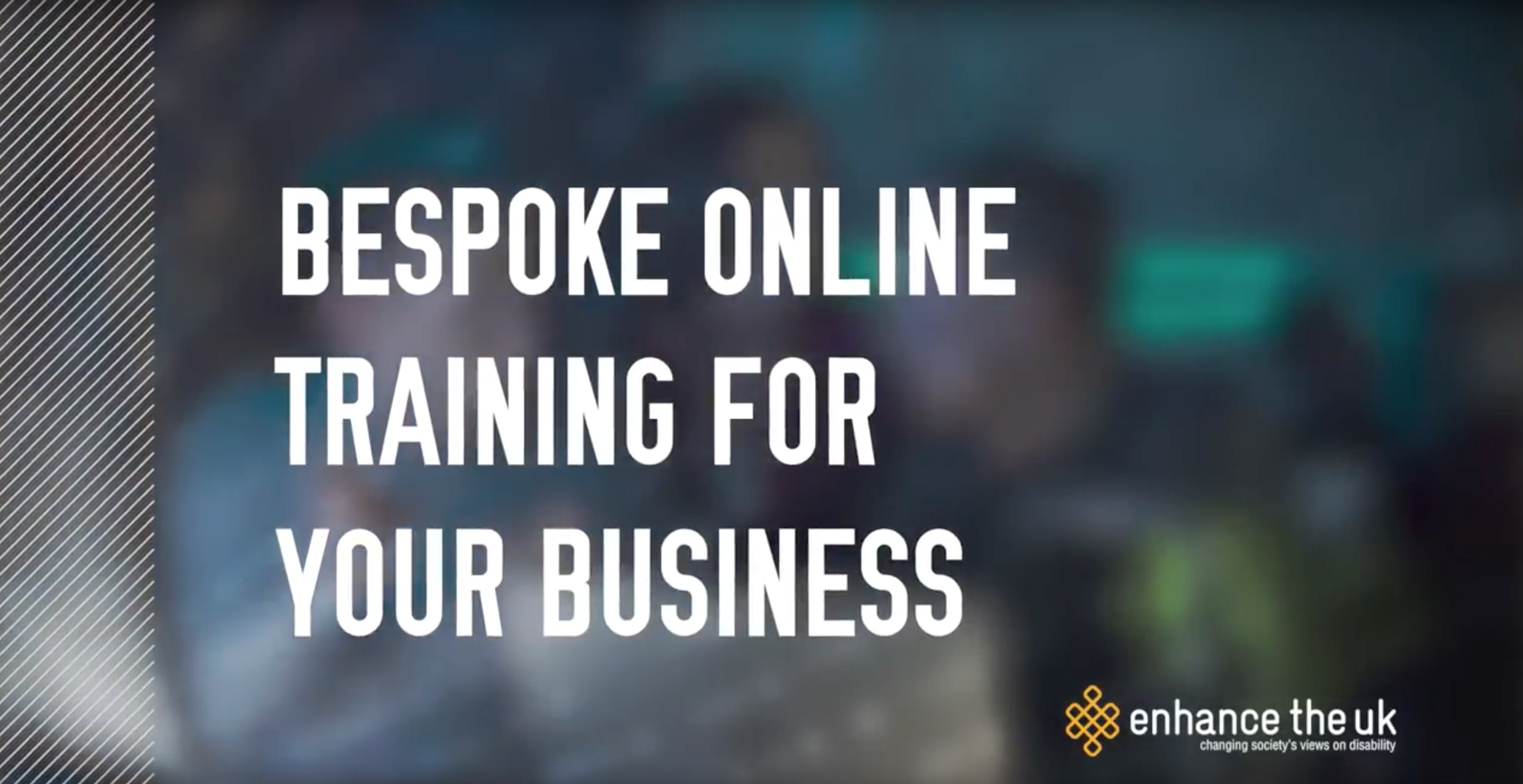 text reading 'bespoke online training for your business'