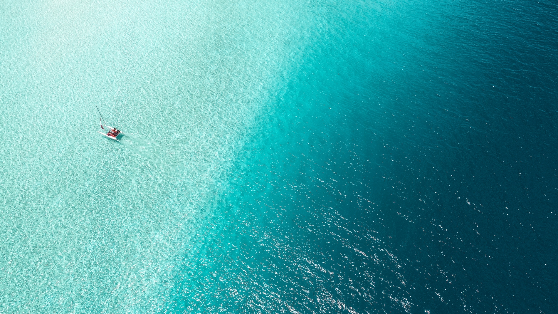 arial shot of the sea