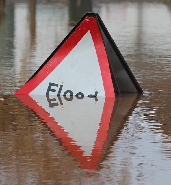 Submerged Flood Sign